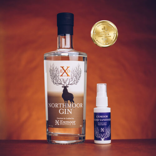 Northmoor Classic 70cl Gin with Exmoor Hand Sanitiser